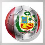 Balón de fútbol de Rojiblanca del La de Blanquirro Póster