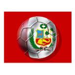 Balón de fútbol de Rojiblanca del La de Blanquirro Tarjetas Postales