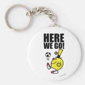 Balón de fútbol de Sr. Funny Juggling A Llavero Redondo Tipo Pin