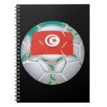 Balón de fútbol de Tunisan Cuaderno