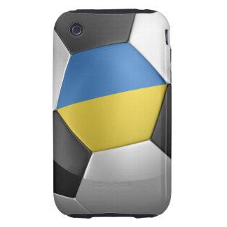 Balón de fútbol de Ucrania Tough iPhone 3 Fundas
