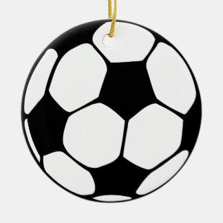 balón de fútbol adorno redondo de cerámica