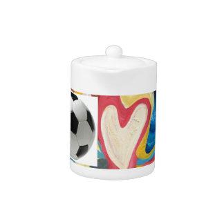 Balón de fútbol del amor