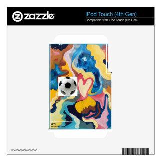 Balón de fútbol del amor iPod touch 4G skin