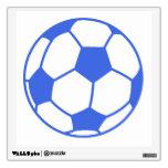 Balón de fútbol del azul real y del blanco