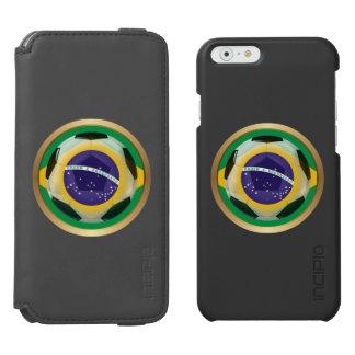 Balón de fútbol del Brasil/del Brasil Funda Billetera Para iPhone 6 Watson