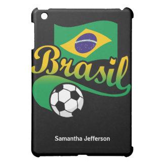 Balón de fútbol del Brasil el Brasil con el caso d