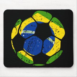 Balón de fútbol del Brasil Mousepad Alfombrilla De Ratones