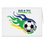 Balón de fútbol del Brasil Tarjeta De Felicitación