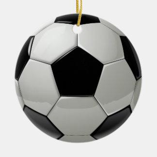 Balón de fútbol del fútbol adorno navideño redondo de cerámica