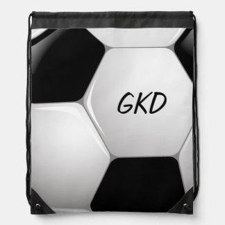 Balón de fútbol del fútbol del monograma mochilas
