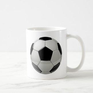 Balón de fútbol del fútbol taza de café