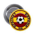 Balón de fútbol del número 1 del fútbol de España Pin Redondo De 2 Pulgadas