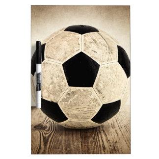 Balón de fútbol del vintage pizarras blancas de calidad