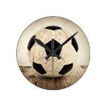 Balón de fútbol del vintage relojes de pared