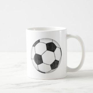 Balón de fútbol del vintage tazas