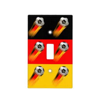 Balón de fútbol el flamear Alemania en bandera Cubierta Para Interruptor