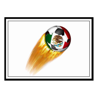 Balón de fútbol el flamear México Tarjeta De Visita