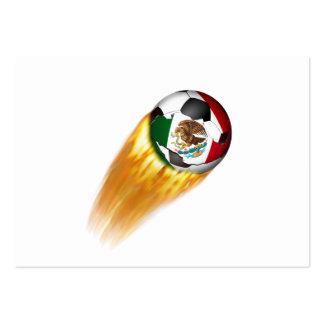 Balón de fútbol el flamear México Plantilla De Tarjeta Personal