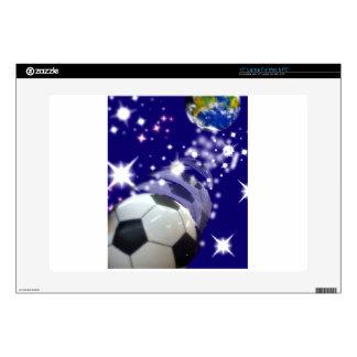 Balón de fútbol en el infinito skins para portátil