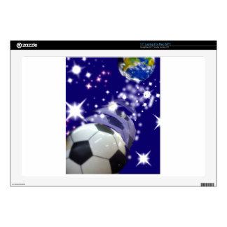 Balón de fútbol en el infinito skins para portátiles