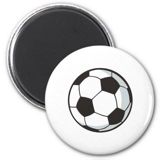 Balón de fútbol en estilo del dibujo animado imán de frigorífico