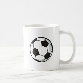 Balón de fútbol en estilo del dibujo animado taza