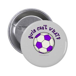 Balón de fútbol en púrpura pin redondo 5 cm