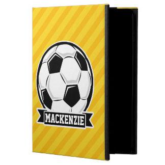 Balón de fútbol en rayas amarillas