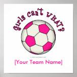 Balón de fútbol en rosa impresiones