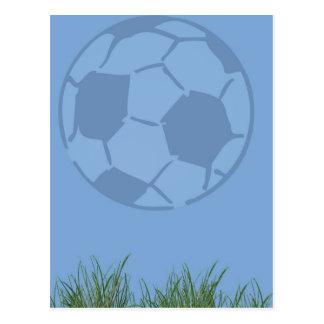 Balón de fútbol en tema del deporte de la postal d