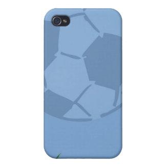 Balón de fútbol en tema del deporte del caso del i iPhone 4 cárcasas