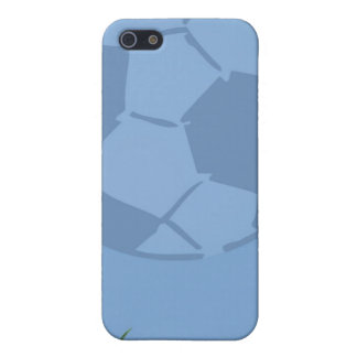 Balón de fútbol en tema del deporte del caso del i iPhone 5 funda