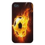 Balón de fútbol encendido iPhone 4 coberturas
