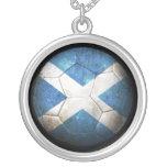 Balón de fútbol escocés gastado de fútbol de bande pendientes