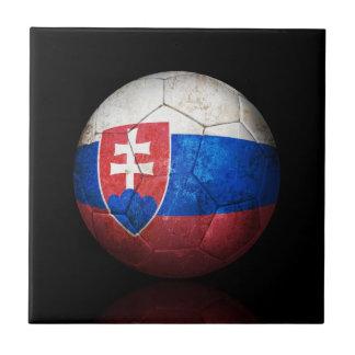 Balón de fútbol eslovaco gastado de fútbol de band azulejo