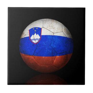 Balón de fútbol esloveno gastado de fútbol de band azulejos ceramicos