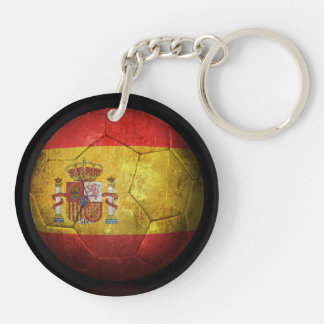 Balón de fútbol español gastado de fútbol de bande llaveros