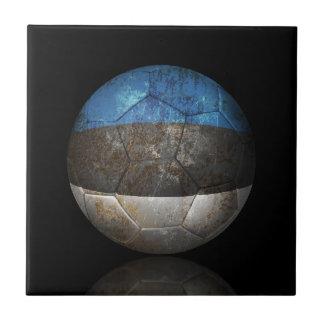 Balón de fútbol estonio gastado de fútbol de bande tejas  cerámicas