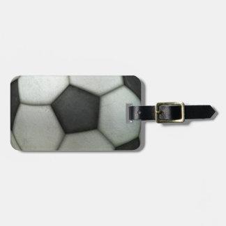 Balón de fútbol etiqueta para maleta