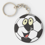 balón de fútbol feliz del dibujo animado llavero personalizado