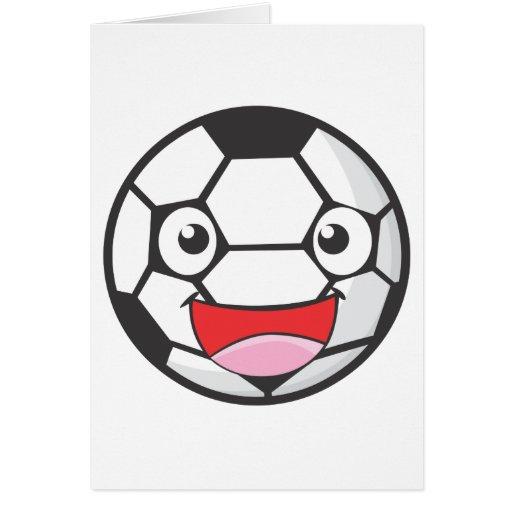 Balón de fútbol feliz felicitacion