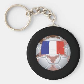 Balón de fútbol francés llavero redondo tipo pin