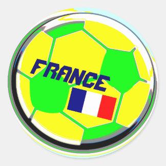 Balón de fútbol Francia Pegatina Redonda
