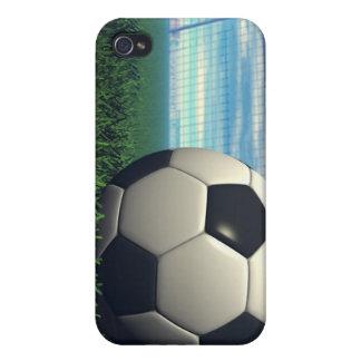 Balón de fútbol (fútbol) iPhone 4 carcasa