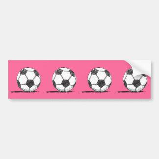 Balón de fútbol, fútbol, Fussball, deporte de Pegatina De Parachoque