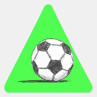 Balón de fútbol, fútbol, Fussball, deporte de Pegatina Triangular