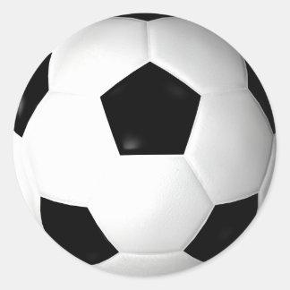 Balón de fútbol (fútbol) pegatina redonda