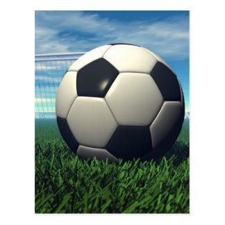 Balón de fútbol (fútbol) postal