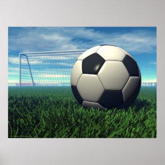 Balón de fútbol (fútbol) póster
